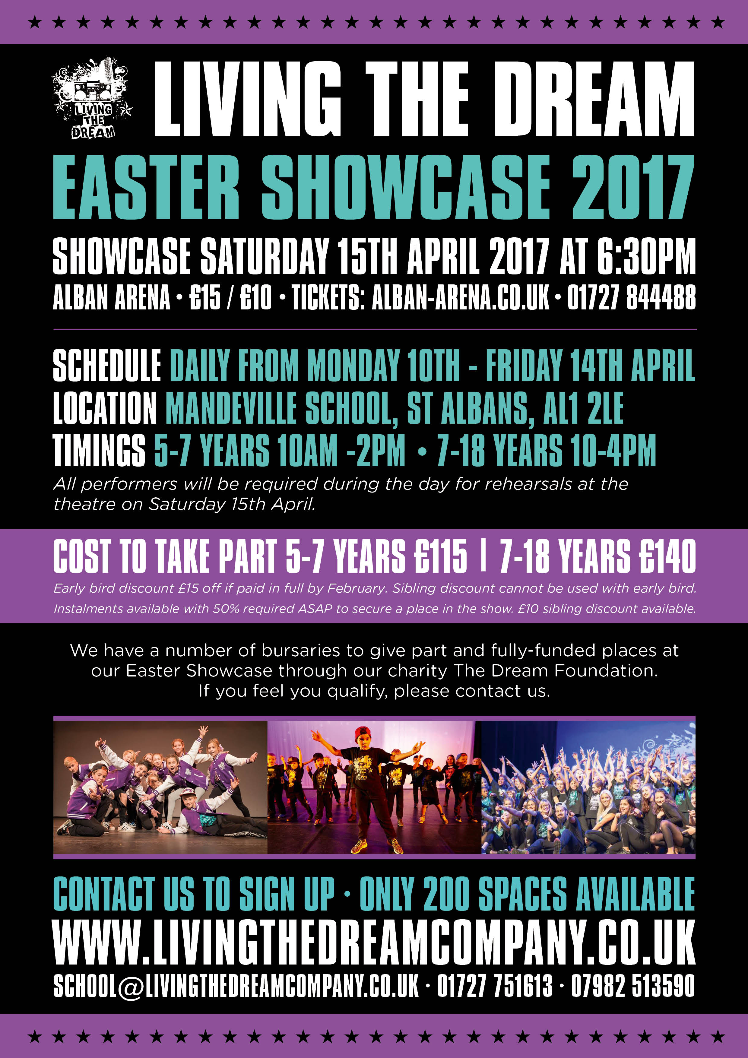 Living the Dream Easter Showcase 2017_Front