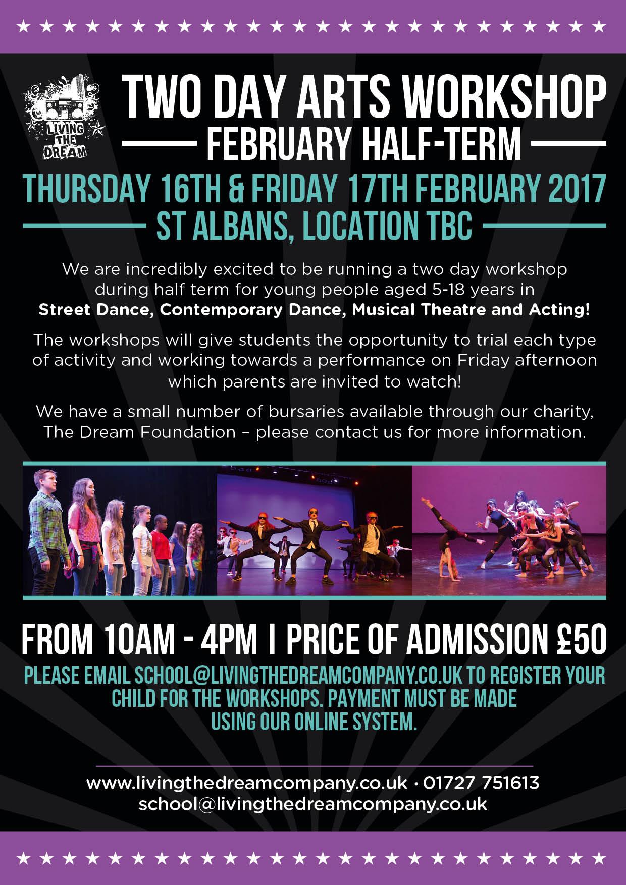 February 2017 Free Arts Workshops Flyer_Fourth_Draft